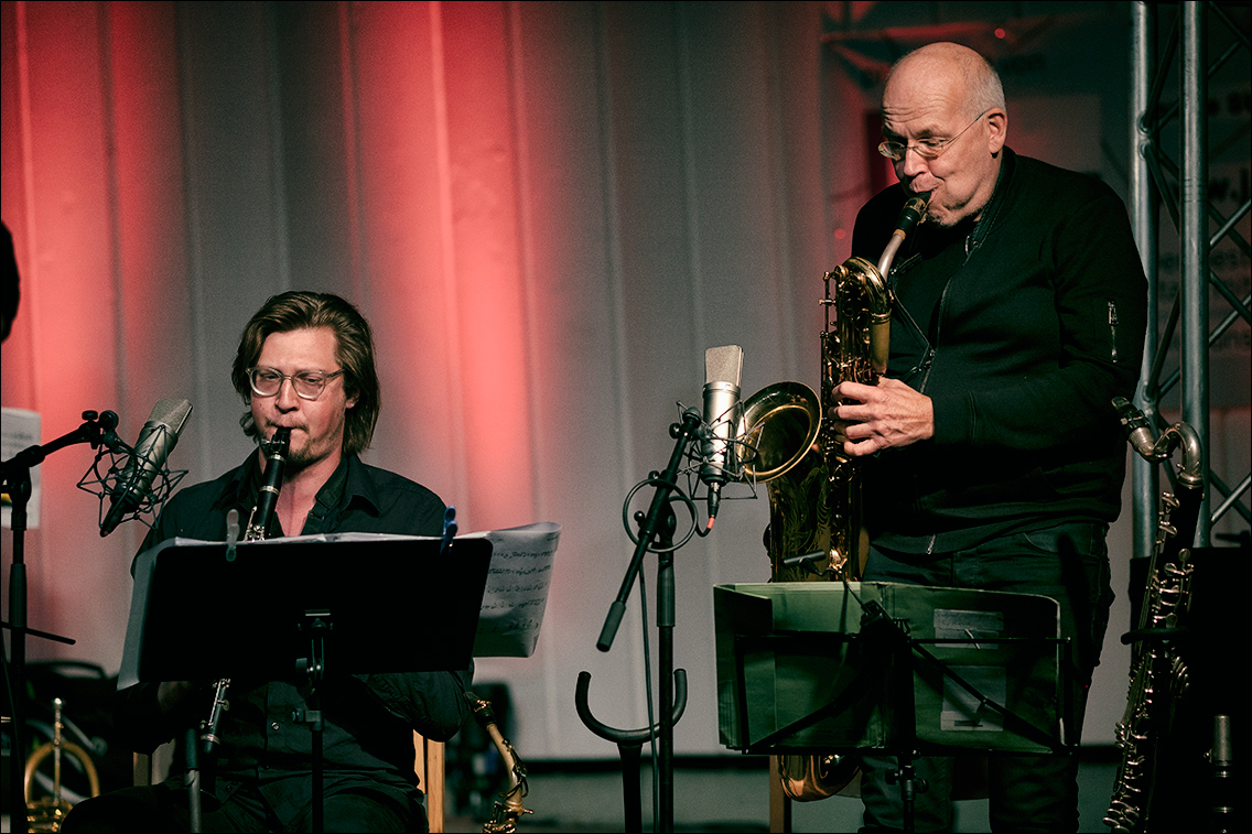 Jazz Open Hamburg 2019 1027 in Gabriel Coburger's XXL Ensemble feat. Ken Norris